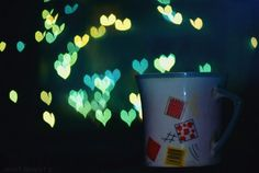 Love Bokeh Cup. ❤  #bokeh #cup #bokeh #lovebokeh #closeups #lights #hearts #love #photography #design #colorful #colors #Peaceful #pleasant