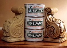 Briwax (a natural blend of Carnauba Wax and Bees Wax-it cleans, stains and polishes) smoothly and evenly over the surface applying with MICROFIBER APPLICATION PADS, leaving your hands clean! Pads can be cleaned and are reusable!!