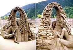 breathtaking sand sculptures