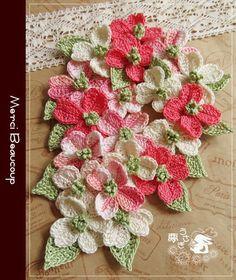 Quick Crochet, Form Crochet, Knit Or Crochet, Crochet Motif, Irish Crochet, Crochet Stitches, Diy Crochet Flowers, Crochet Flower Tutorial, Crochet Flower Patterns