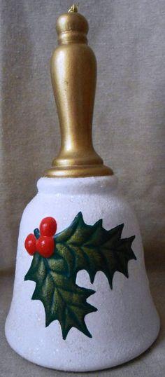 Mistletoe Holiday Ceramic Bell | Gertie's Gems
