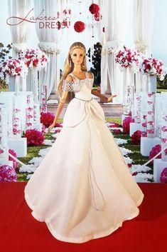 Glam Dresses, Doll Dresses, Dress Outfits, Amazing Dresses, Nice Dresses, Formal Dresses, Bridal Gowns, Wedding Gowns, Barbie Bridal