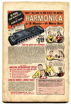 Play harmonica in 15 minutes - from DC Comics, 1949