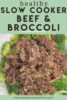 This Healthy Beef and Broccoli is a delicious, paleo meal made in your crockpot or stovetop. Naturally whole30 and gluten free it has a delicious sauce that no one would ever know is clean eating! This recipe uses no cornstarch and is perfect for meal prep!