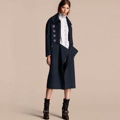 长版宽松羊毛大衣