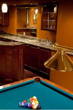 43 Billiard Room Design Ideas | Sebring Design Build Billiard Pool Table, Billiards Pool, Antique Pool Tables, Pool Table Room, Game Room Basement, Pool Table Lighting, Basement Remodeling, Traditional Design, Design Ideas