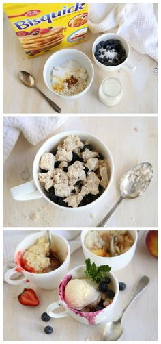 Make your own fruit cobbler in microwave in just a few minutes!