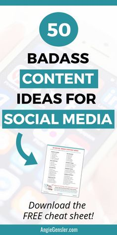 Not sure what to post on social media? Here are 50 content ideas in the ultimate cheat sheet of what to post on social media. Marketing Trends, Marketing Plan, Marketing Quotes, Influencer Marketing, Business Marketing, Facebook Marketing, Internet Marketing, Social Media Marketing, Online Marketing