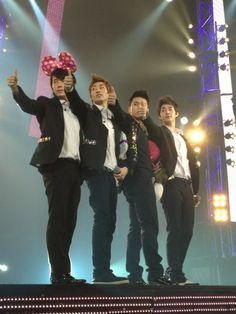 Donghae, Eunhyuk, Sungmin, and Henry