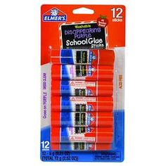 HAVE: Elmer's® Washable Glue Sticks Disappearing Purple - 12ct : $3.99