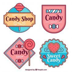 Candy shop logos collection for companies Cake Logo Design, Food Logo Design, Logo Design Services, Custom Logo Design, Banner Design, Logo Dulce, Ideas Para Logos, Sweet Logo, Candy Logo