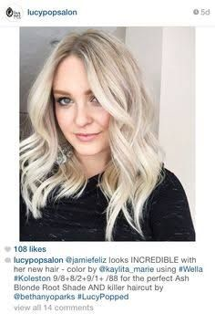 Image result for ash blonde hair with root shadow