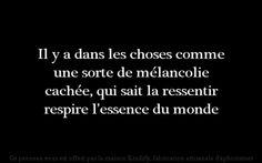 Mélancolie....