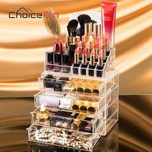 Choice fun 4 schubladen acrylverfassungsorganisator lippenstift nagellack durchsichtigen kunststoff kosmetische aufbewahrungsbox mit spiegel sf-1029m-4(China (Mainland))