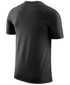 Nike Men's Portland Trail Blazers Dri-fit Cotton Logo T-Shirt - Black XXL