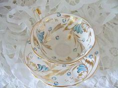 Vintage Queen Anne teacup and saucer tea by YorkshireTeaCupShop