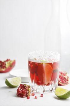 Pomegranate Lime Margarita www.bellalimento.com