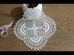 Crochet Square Lace Motif Making Part 1 & Crochet-Tığişi Kare Dantel Motifi Yapımı Part 1 & Crochet Crochet Square Lace Motif Making Part 1 & Crochet - Filet Crochet, Crochet Doily Rug, Crochet Motifs, Crochet Flower Patterns, Doily Patterns, Crochet Squares, Crochet Home, Crochet Flowers, Crochet Designs