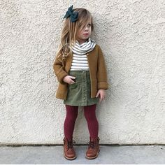 32 Cute Girl Toddler Outfits This Fall Fall Outfits Baby Toddler Girl Outfits baby Cute Fall girl Outfits Toddler Outfits Niños, Girls Fall Outfits, Little Girl Outfits, Little Girl Fashion, Little Girl Style, Cute Kids Outfits, Girls Fashion Kids, Kids Girls, Fashion Children