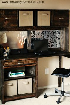 Pottery Barn Teen Inspired Desk DIY
