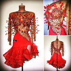 #abrahammartinez #newdress #latin #red #feathers #cristal #lightsiam #swarovski #design #grandslamhongkong SOLD!