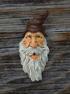 Wood Spirit Ooak Hobbit Sorcerer Hill Billy Gnome Wizard Wood Carving
