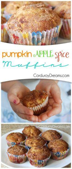 Pumpkin Apple Spice Muffins.  Yum.