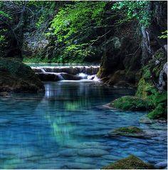 Turquoise River. Navarre, Spain