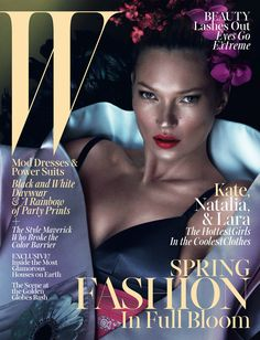 Kate Moss on the cover of W Magazine March 2013
