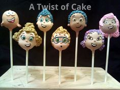 Bubble Guppies cake pops