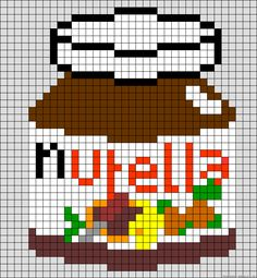 Nutella glass perler bead pattern