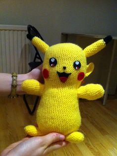 Amigurumi Pikachu HAND MADE  Pokemon 11 large doll  by Lirings, £24.99