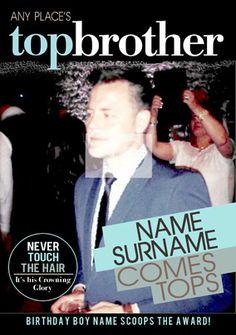 Spoof Magazine - Top Brother Birthday