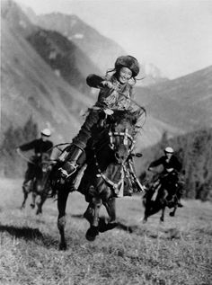 Female trick rider in Kyrgyzstan. 1936.