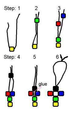 Knoten gegen die schwarze Perle. Schritt 6: Binden Sie die Enden der Schnur zusammen. Wickeln ...  #binden #enden #gegen #knoten #perle #schritt #schwarze