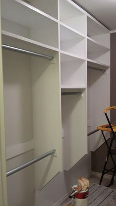 Full instructions to build your own custom closet organizer - no particle board in sight!