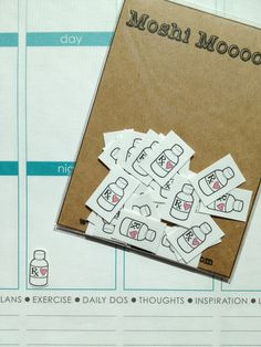 Mrs.Coffee Stickers pack of 24 by MoshiMoooosh on Etsy