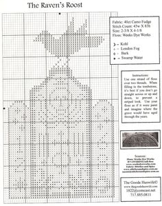 The Raven's Roost • Chart. The chart is not very clear so I think we will just have to treat it like a mystery project!