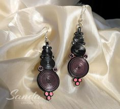 Earrings - quilled by: Sanda creations