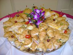 Wedding, Reception, Food, Display - Mini Croissant Tray