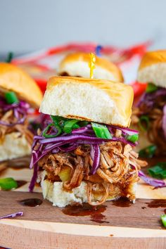 Pineapple Char Siu Pulled Pork Sliders! Incredible flavour combo! ( slow cooker / crock pot recipe!)