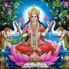 Hindu Goddess Lakshmi Pictures for Akshaya Tritiya Festival . Goddess Mahalakshmi is the Hindu Goddess of Wealth and prosperity. Shiva, Durga Kali, Mother Goddess, Goddess Of Love, Divine Mother, Beautiful Goddess, Indian Gods, Indian Art, Red Pixie