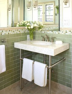 Space-Saving Console Sink  Frustrated by a lack of space for a sink? Pedestal sinks are terrific space-savers, but lack storage space. And larger, vanity-style structures provide ample storage but can take up a lot of room. But console sinks provide the best of both worlds -- compact size with storage underneath and counter space around the basin.