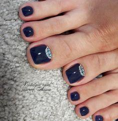 Cute Toe Nails, Cute Toes, Pretty Toes, Toe Nail Art, Hair And Nails, My Nails, Nails Studio, Cute Pedicures, Soft Nails