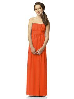 Junior Bridesmaid Style JR519 http://www.dessy.com/dresses/junior-bridesmaid/JR519/?color=tangerine%20tango&colorid=1191#.UsNe3ltDvz4