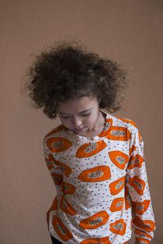 Orange Papaya Longsleeve T-Shirt - Mixed Grill Banjul