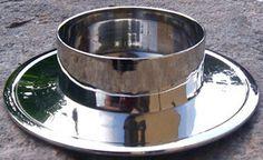 Kerzenständer für Taufkerzen Hochzeitskerzen 9139 von Kerzenboutique auf DaWanda.com Dog Bowls, Barware, Candle Holders, Bar Accessories