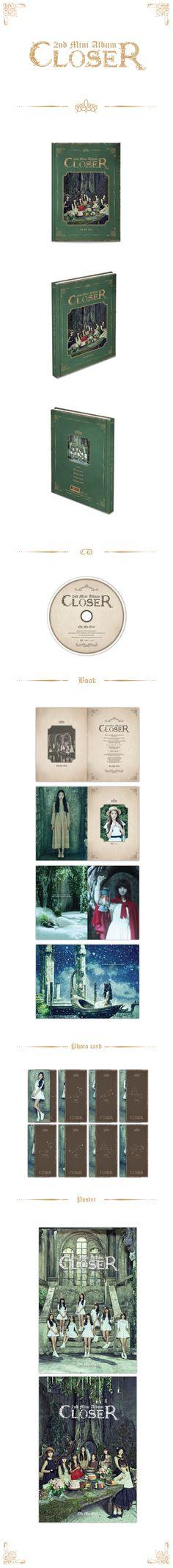 오마이걸 (OH MY GIRL) - CLOSER (2nd Mini Album) [68p 북클릿+포토카드 8종 중 1종 랜덤 삽입] [초도 한정 포스터(2종 중 1종 랜덤)+지관통 무료 증정]