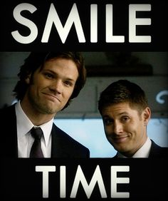 I'm laughing at Deans smile but at the same time melting in Sam's.