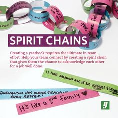 """Might be a cool living """"quote book"""" and then put them in a book at the end of the year! with each other with spirit chains. Cheer Team Gifts, Cheer Coaches, Cheerleading Gifts, Cheer Party, Cheer Treats, Softball Gifts, Basketball Gifts, Youth Cheer, Cheer Camp"""
